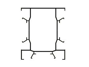 Столб Т-образного соединения