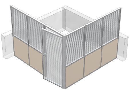Офисные кабинеты из перегородок с жалюзи — эргономичная и прочная конструкция на заказ